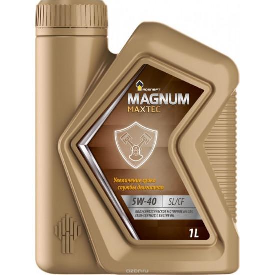 РОСНЕФТЬ MAGNUM MAXTEC 5W-40  SL/CF.1л.Полусинтетическое моторное масло.(12шт)