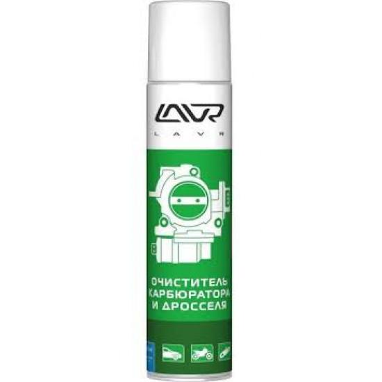 LAVR LN1493 Очиститель карбюратора, дросселя аэрозоль 400 мл(12шт)
