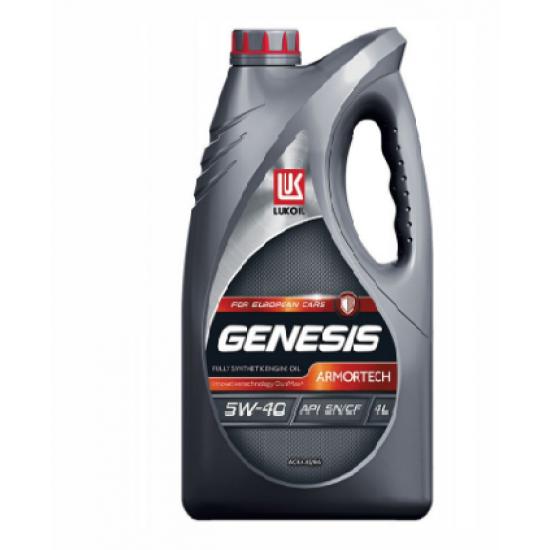 Лукойл GENESIS Armortech 5W-40 4л. API SN/CF, ACEA A3/B4, A3/B3  Синтетическое моторное масло (4 шт)